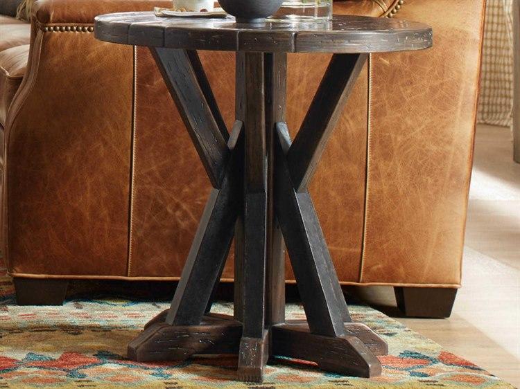 Hooker Furniture American Life Roslyn County Dark Wood 24 Wide Round End Table Hoo161880115dkw
