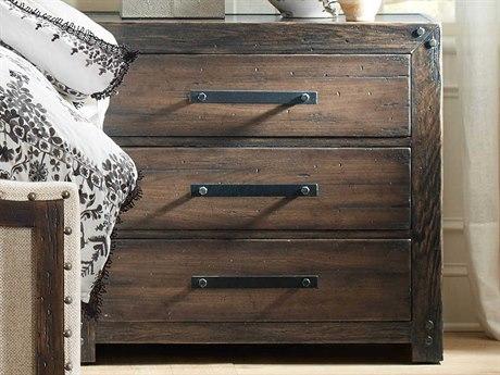 Hooker Furniture American Life - Roslyn County Dark Wood 3 Drawers Nightstand