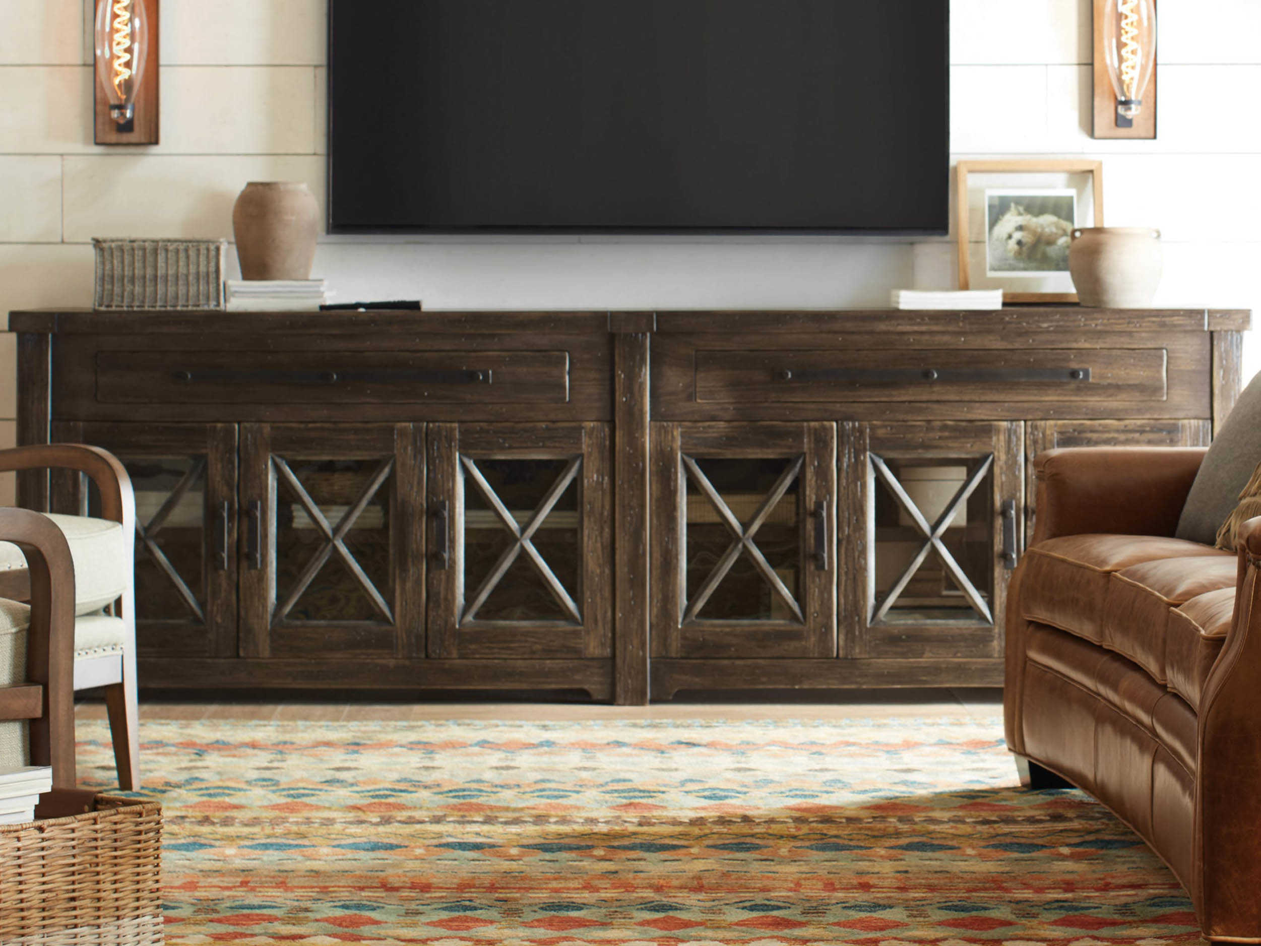 Super Hooker Furniture American Life Roslyn County Dark Wood Tv Stand Download Free Architecture Designs Scobabritishbridgeorg