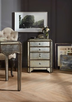 Hooker Furniture Arabella Silver Mirrored Lateral File Cabinet