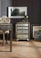 Arabella Silver Mirrored Lateral File Cabinet