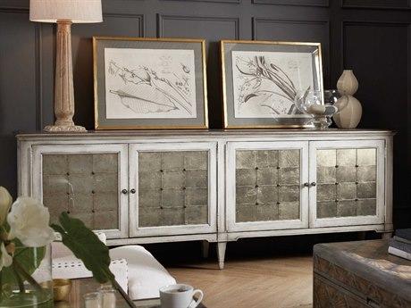 Hooker Furniture Arabella Champagne / White 104''W x 19''D Rectangular Credenza