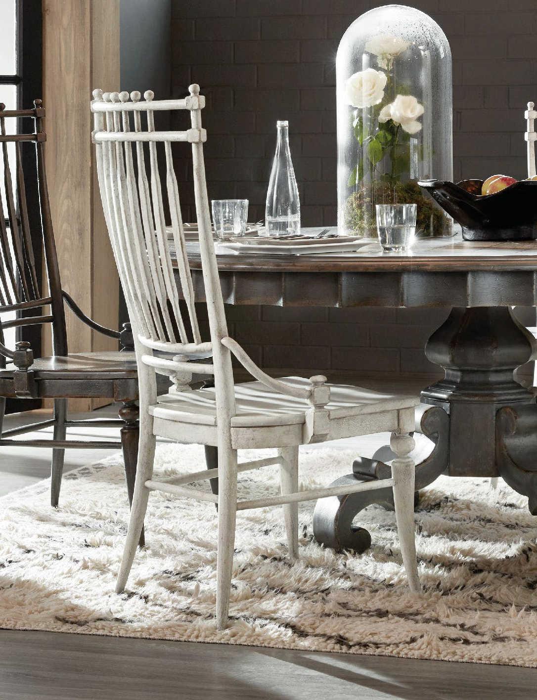 Hooker Furniture Arabella White Windsor Dining Side Chair