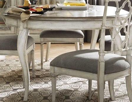 Hooker Furniture Arabella Champagne / White 48-68''W x 48''D Dining Table with Extension HOO161075203WH