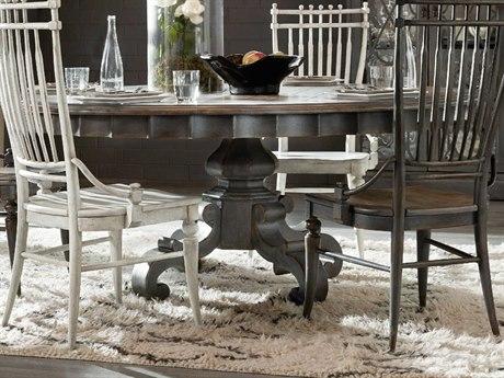 Hooker Furniture Arabella Warm Wood / Gray 72'' Wide Round Pedestal Dining Table