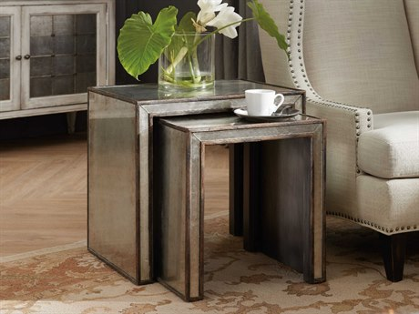 Hooker Furniture Arabella Silver 24''W x 18''D Rectangular Nesting Table HOO161050002EGLO