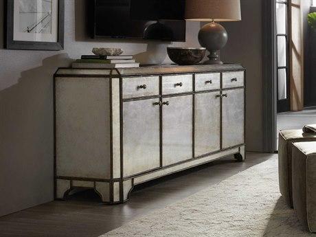 Hooker Furniture Arabella Silver 74''W x 18''D Rectangular Entertainment Credenza HOO161055474EGLO