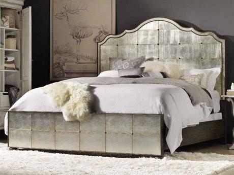 Hooker Furniture Arabella Silver Mirrored California King Size Panel Bed