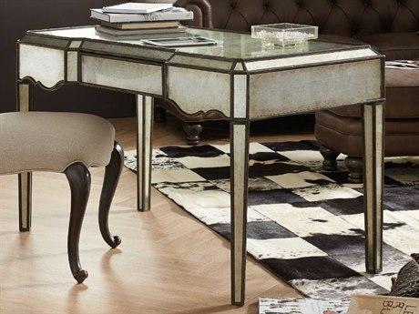Hooker Furniture Arabella Silver Mirrored 50''W x 36''D Rectangular Writing Desk