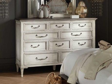 Hooker Furniture Arabella Champagne / White Ten-Drawer Triple Dresser