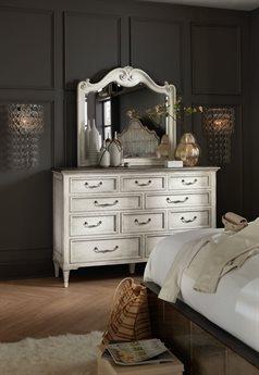 Hooker Furniture Arabella Triple Dresser with Wall Mirror Set