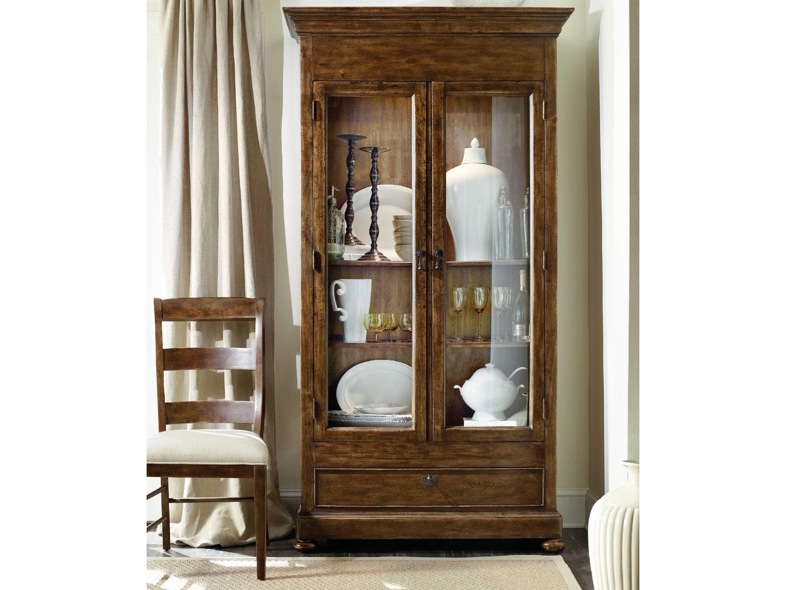 Archivist Dark Wood Display Cabinet