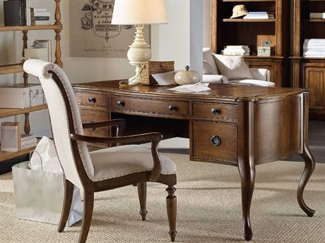 Hooker Furniture Archivist Dark Wood 61''L x 29''W Rectangular Writing Desk