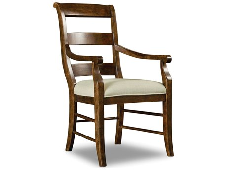 Hooker Furniture Archivist Dark Wood Arm Dining Chair (Sold in 2)