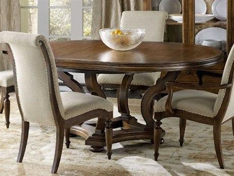 Hooker Furniture Archivist Dark Wood 54'' Wide Round Dining Table HOO544775203