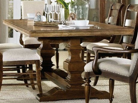 Hooker Furniture Archivist Toffee 86''-122''L x 44''W Rectangular Trestle Dining Table