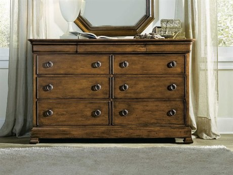 Hooker Furniture Archivist Dark Wood Nine-Drawers Double Dresser