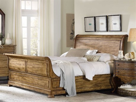 Hooker Furniture Archivist Toffee California King Size Sleigh Bed HOO544790460TOFFEE