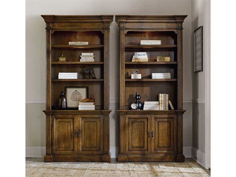 Hooker Furniture Archivist Soft Casual Pecan Bookcase
