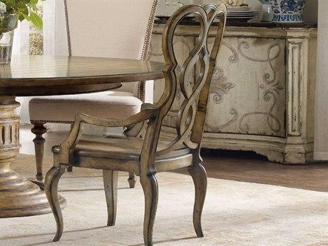 Hooker Furniture Auberose Warm Brown Splatback Dining Arm Chair (Sold in 2)
