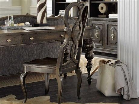 Hooker Furniture Auberose Soft Charcoal Splatback Dining Side Chair (Sold in 2)