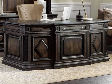 Hooker Furniture Auberose Soft Charcoal 72''W x 38''D Rectangular Executive Desk HOO159510563LTBK