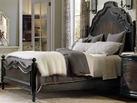 Hooker Furniture Auberose Soft Charcoal California King Panel Bed