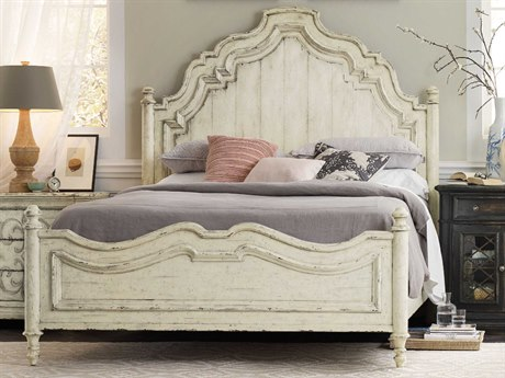 Hooker Furniture Auberose Antique White King Size Panel Bed