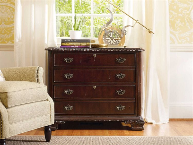 Furniture Dark Wood Lateral File Cabinet