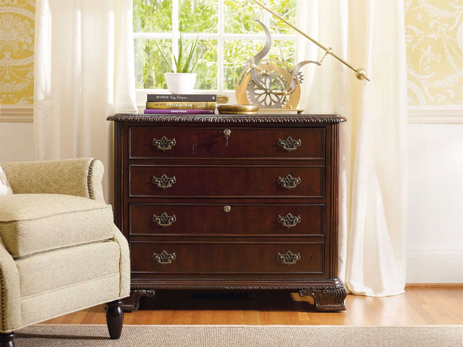 Hooker Furniture Dark Wood Lateral File Cabinet 434 10 466 ...