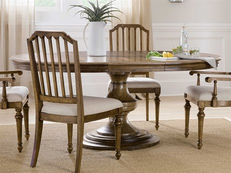 Hooker Furniture Ballantyne Medium Wood 56-74'' Wide Round Dining Table with Extension
