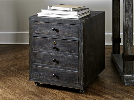 Hooker Furniture Beaumont Dark Wood Mobile File Cabinet