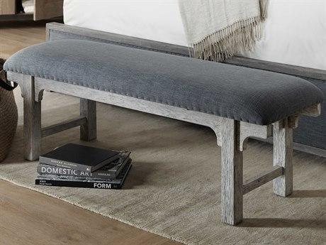 Hooker Furniture Beaumont Antique White / Vesper Slate Accent Bench HOO57519001995