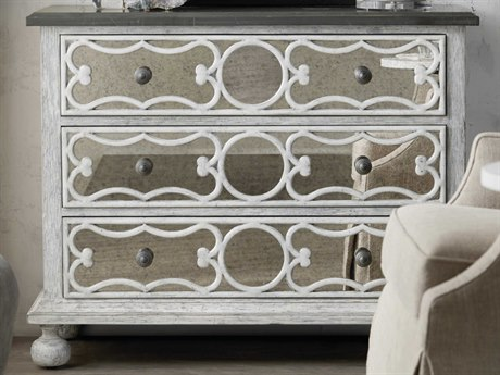 Hooker Furniture Beaumont Flecked Greystone / Antique White Accent Chest HOO57515000102