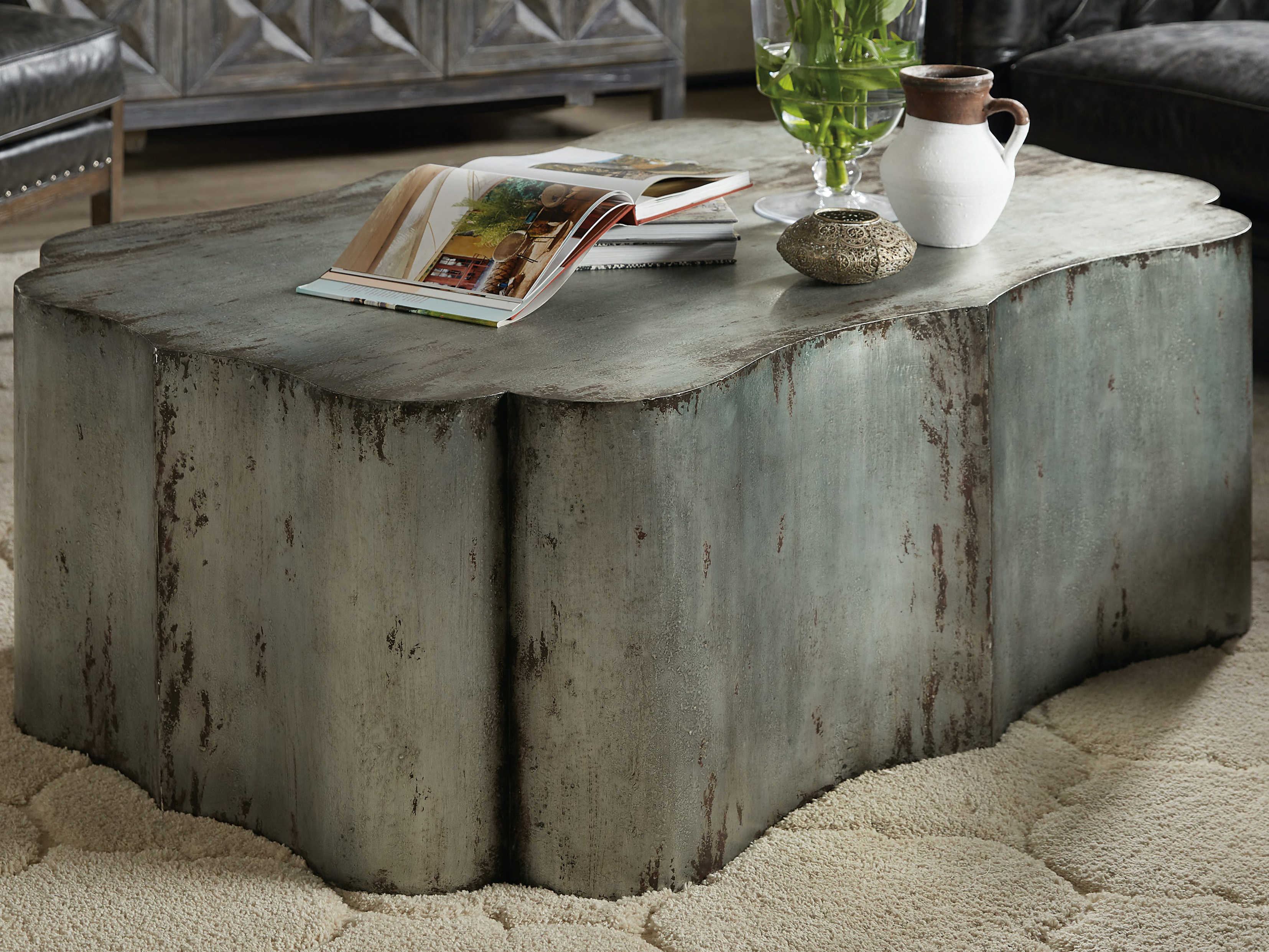 - Hooker Furniture Beaumont Gray 52'' Wide Coffee Table HOO57518011045