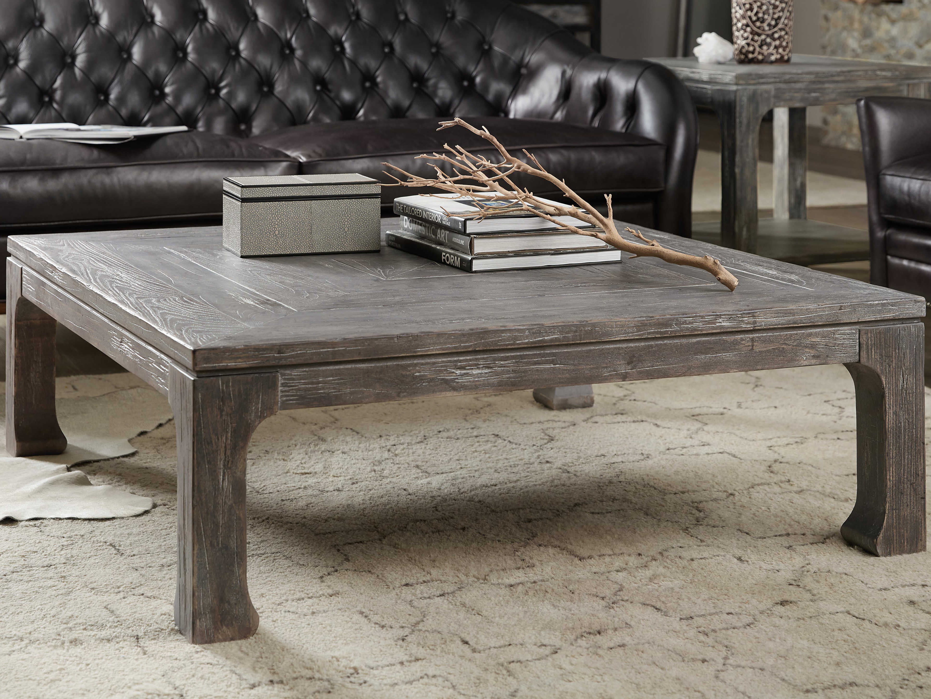 - Hooker Furniture Beaumont Dark Wood 46'' Wide Square Coffee Table  HOO57518011189