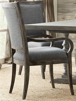 Hooker Furniture Beaumont Dark Wood / Vesper Slate Arm Dining Chair HOO57517540089