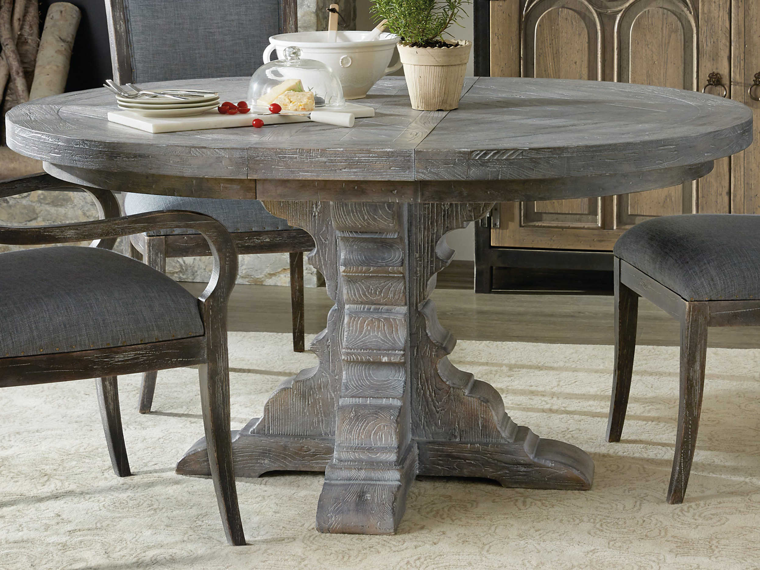 Hooker Furniture Beaumont Gray 9'' Wide Round Dining Table