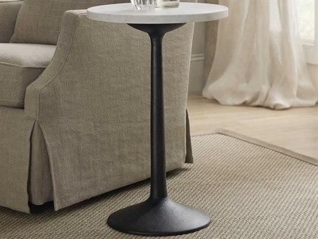 Hooker Furniture Beaumont Waxed Marble / Ingot Sandblasted 16'' Wide Round Pedestal Table