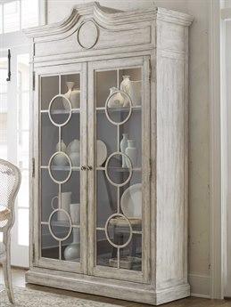 Hooker Furniture Boheme Antique Gray White China Cabinet HOO575075906LTWD