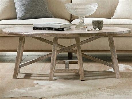 Hooker Furniture Boheme Light Wood 54'' Wide Oval Coffee Table