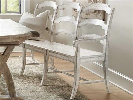 Hooker Furniture Boheme Antique Gray White Arm Dining Chair