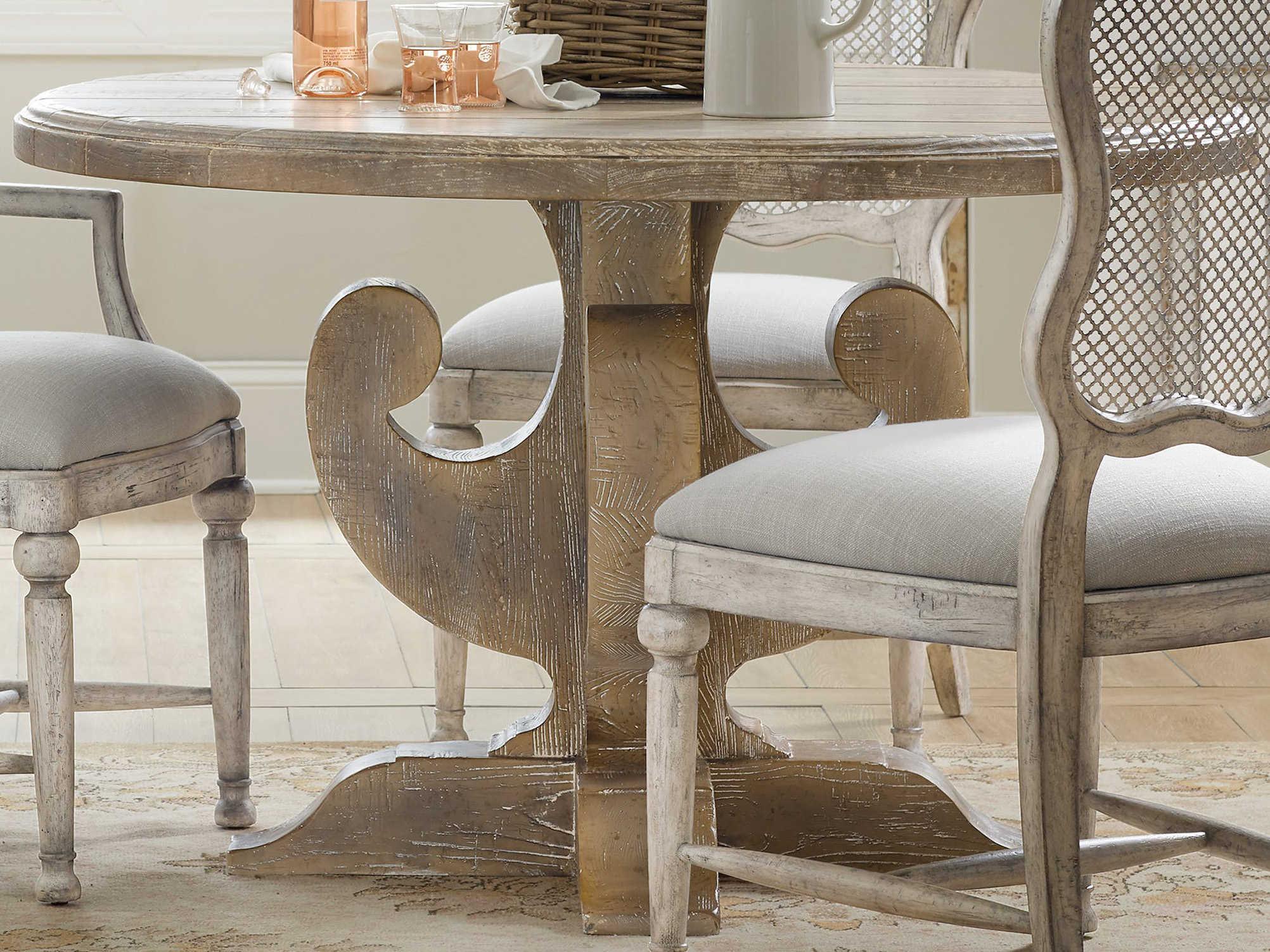 Hooker Furniture Boheme Light Brown 48 Wide Round Dining Table Hoo575075203mwd