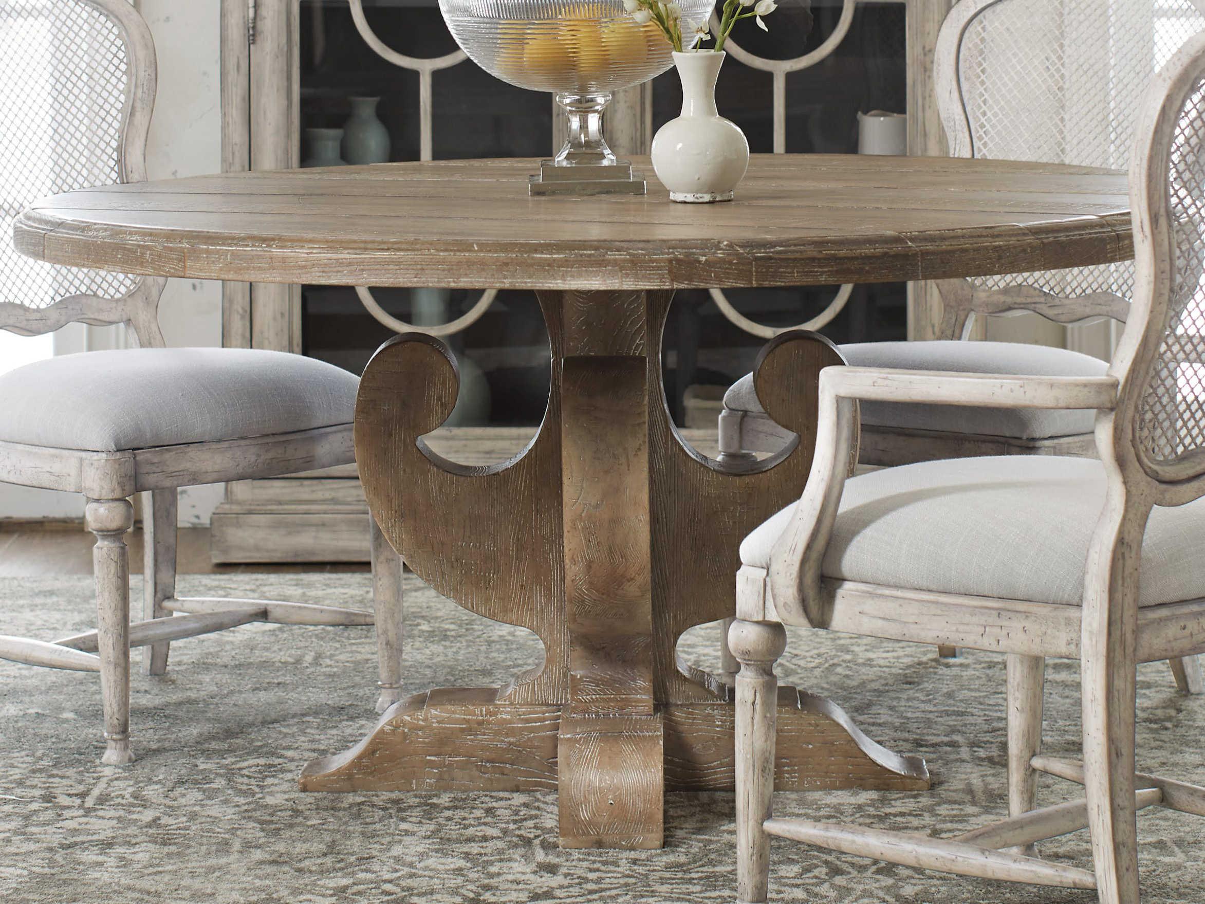 Hooker Furniture Boheme Light Wood 60 Wide Round Dining Table Hoo575075213mwd