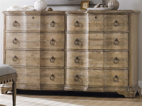 Hooker Furniture Boheme Light Wood 8 Drawers and up Double Dresser