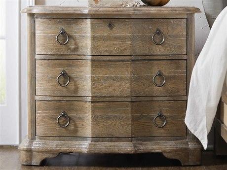 Hooker Furniture Boheme Light Wood 3 Drawers Nightstand