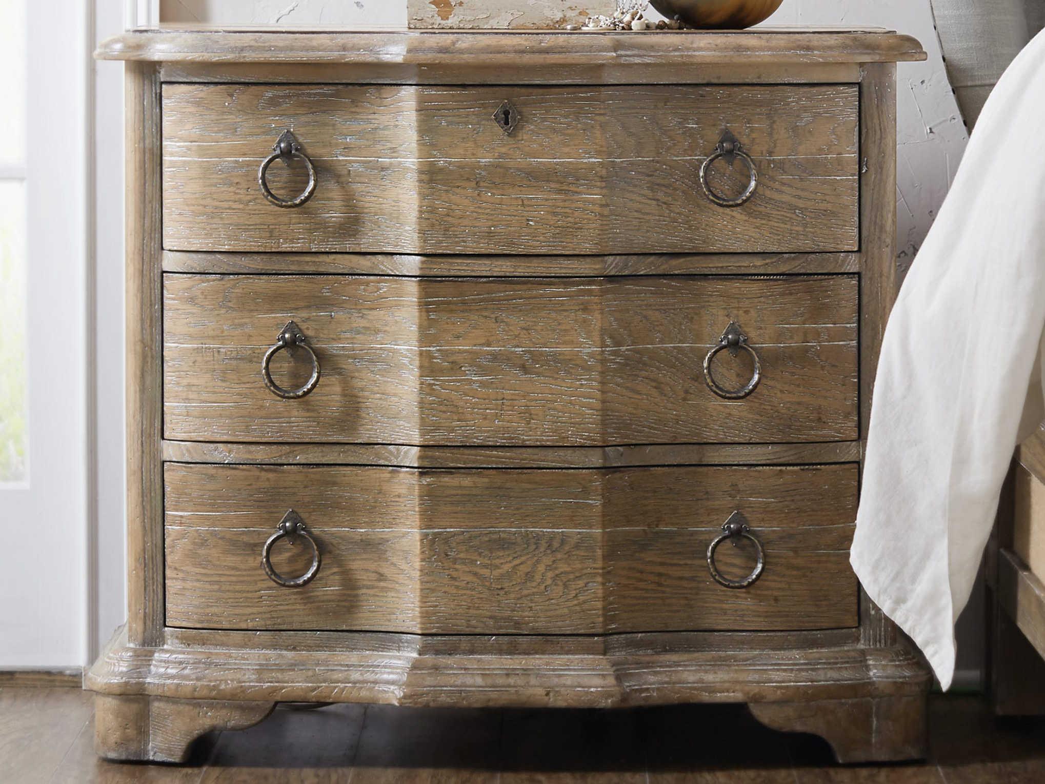 Hooker Furniture Boheme Light Wood 3 Drawers Nightstand Hoo575090016mwd