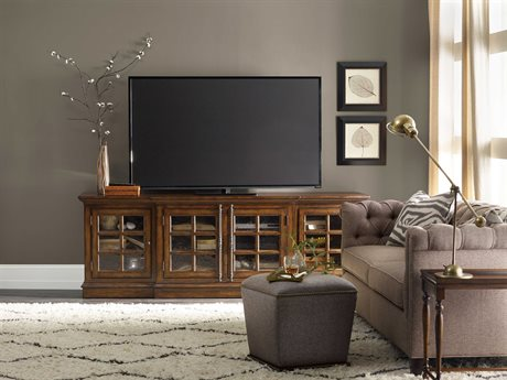 Hooker Furniture Brantley Dark Oak 92''L x 22''W Rectangular Entertainment Console HOO530255492