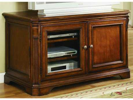 Hooker Furniture Brookhaven Distressed Medium Cherry 44''L x 23''W Rectangular Entertainment Console HOO28155470