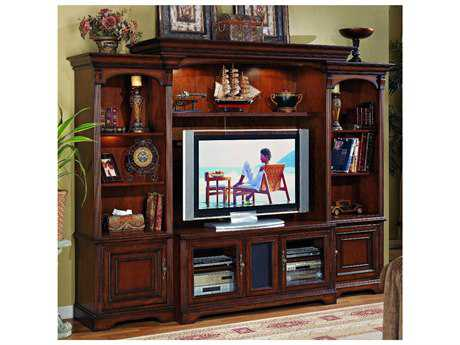 Hooker Furniture Brookhaven Distressed Medium Cherry 110.5''L x 22''W Entertainment Center HOO28170111